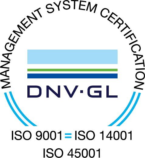 ISO 14001:2015, ISO 9001:2015 and ISO 45001:2018 Certified